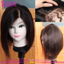 Оптовая 100 европейских короткий Боб горячей продажи кружева фронта парик человеческих волос