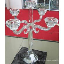 Crystal Candle Holder com cinco cartazes ....,