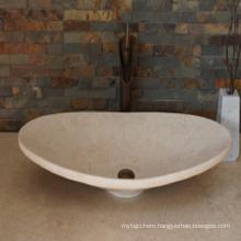 Egyptian beige marble sink