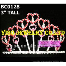 Corona de la tiara del cristal de los amores