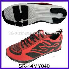 SR-14MY040 moda nuevos punto de punto zapatos de punto de tejido de punto zapatos deportivos de punto hombres zapatos