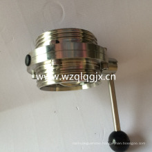 DIN Sanitary Stainless Steel Weld and Thread Butterfly Valve