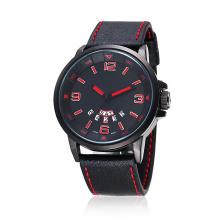 Relógio de pulso de homem resistente à água com pulseira de silicone