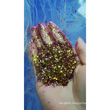 Color shifting glitters/ chameleon glitters/ glitter color change from different angles for cosmetic, nail art, toys,student etc
