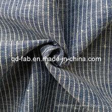 Algodão / Fio de linho tingido tecido (QF13-0765)