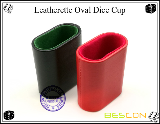 Leatherette Oval Dice Cup