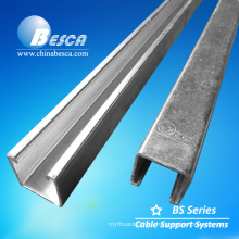 Hot Dip Galvanized Steel Plain Strut Channel and Unistrut Channel with UL