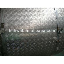 Feuille d'aluminium à cinq barres