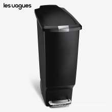 Les Vagues 40L trash can stainless steel 10.6 gallon trash cans touchless garbage can bins for kitchen, intelligent trash bins