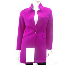 15QF1213 women double layer 100% wool coat