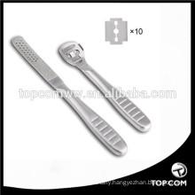 Callus Shaver Callus Remover File Refill Dead Hard Skin Remove Foot Care Pedicure Tools Set with 10 Blades