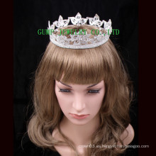 2016 Crystal Rhinestone Corona Completamente Redonda Tiara