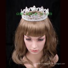 2016 Crystal Crown Rhinestone Полностью круглый Tiara