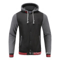 Hommes Soccer Wear Zip Up Hoodies Gris Mélange
