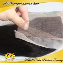 100% человеческих волос девственницы камбоджийский шелк база закрытие