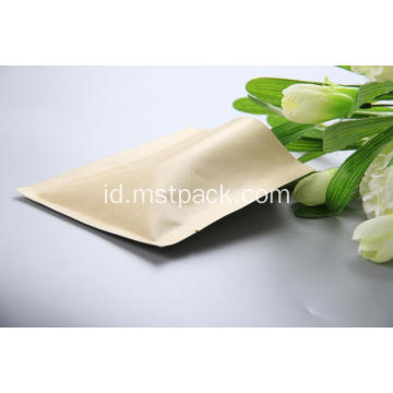 Kraft Paper 3 Side Seal Bag dengan katup