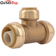 GutenTop Sharkbite 1/2 Equal Tee Brass Push To Connect Push Fit Fitting