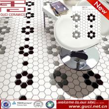 suministro de porcelana Azulejos de mosaico de cerámica hexagonal de cocina