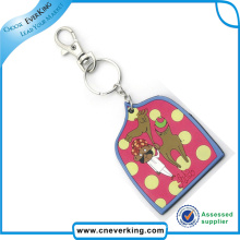 Wholesale Colorful Soft PVC LED Keychain for Souvenir
