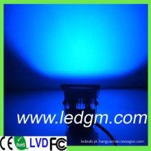 Alumínio Shell cor azul 10W luz de inundação