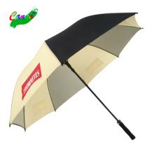 Siebdruckmaschine gelber benutzerdefinierter Regenschirm kein Mindestmaß an mehrfarbigen Slogan-Logo-Benutzerdefinierten Druckschirmen