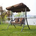 Most popular metal gardenswing chair for adult cushion with canopy rattan courtyard furniture