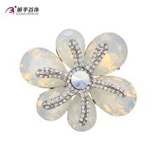 Xuping Fashion Luxury Rhodium cristales redondos de Swarovski Rhinestone flor en forma de elemento de la joyería Brooch -X0421003