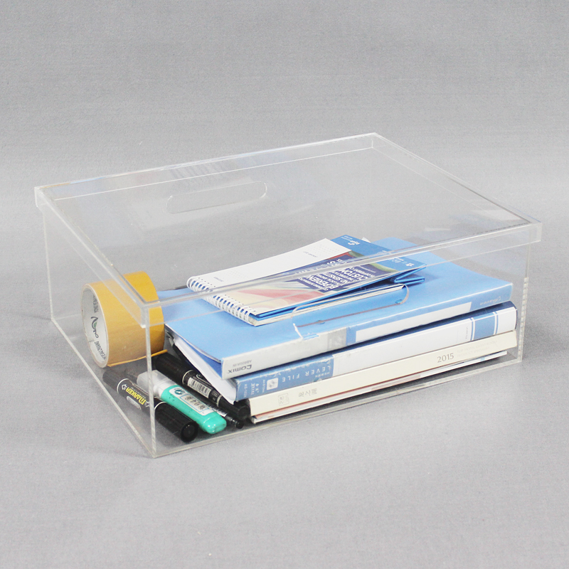 Clear Acrylic Desk Organizer Set With Lid