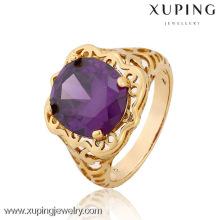 12834-Xuping dernières conceptions d'anneau de doigt d'or, hommes anneau anneau modèle, grands anneaux de pierre un conceptions pour les hommes