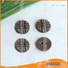 Boutons de noix de coco naturels pour vêtement BN8038
