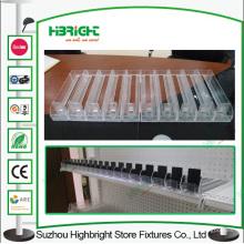 Détail plateau d'alimentation automatique affichage poussoir pour l'affichage de la E-Cigarette liquide