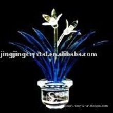 Crystal Orchid Flower Craft for Table Decoration