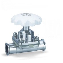 Sanitária Aço Inoxidável 316L Válvula de Diafragma Sanitária Manual