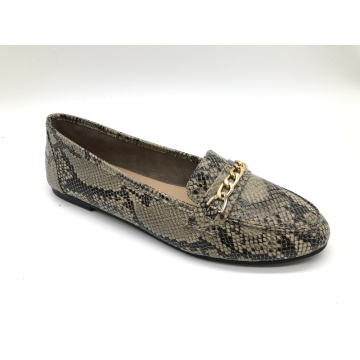 Damen Chain Slip-On Flat Loafer