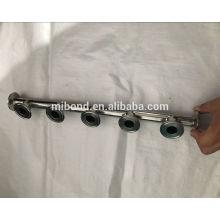 Tuyau collecteur sanitaire à trois pinces en acier inoxydable