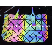 Bolso de mano brillante reflectante Multi Color