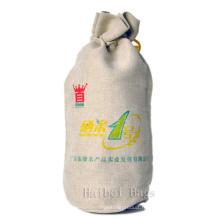 Sac de bouteille de vin de jute (hbjw-18)