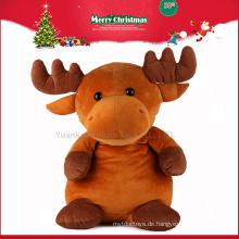 2016 benutzerdefinierte billige gefüllte Elch Tier Plüschtiere für Weihnachten