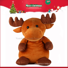 2016 custom cheap stuffed moose animal plush toys for Christmas