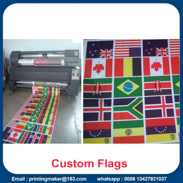 Custom Satin Fabric World Flags Banderoller