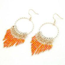 2013 Boucles d'oreilles à rideaux en perles à la mode avec 5 couleurs de mélange FE16