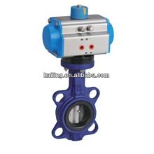 pneumatic wafer butterfly valve