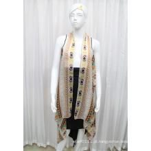 Lady Moda Impresso Poliéster Chiffon Silk Shirt (YKY2209)