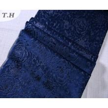 Floral Burnout y tela de terciopelo de impresión de tela