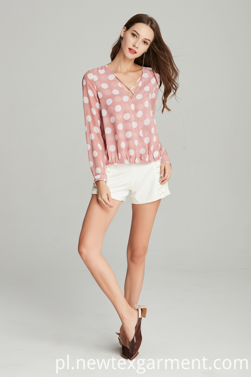 ladies chiffon printed blouse