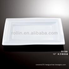 nice healthy rectangular white dish porcelain