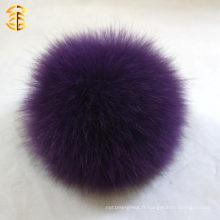 Violet doux à la fourrure en fourrure Accessoires pour chapeaux en caoutchouc 11-12cm gros pomme de bain mobile souple