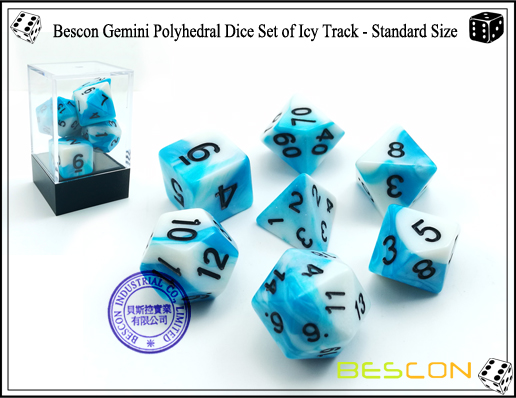 Bescon Gemini Dice Set of Icy Track-1