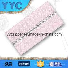 # 2 dientes redondos personalizado de metal de cadena larga cremallera para textiles