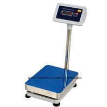 Escala de bancada de 30X40cm Escala de plataforma eletrônica digital de aço inoxidável de 150kg